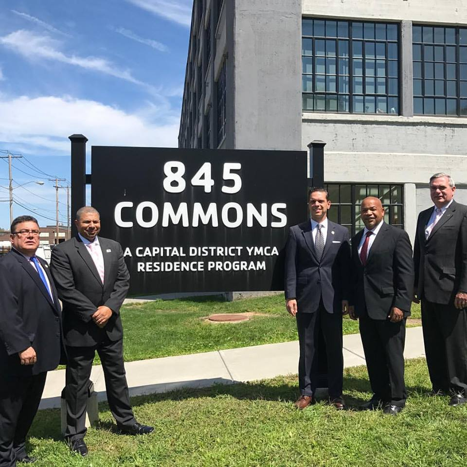 Great tour of the Capital District YMCA veteran housing project at 845 Commons in the City of Schenectady today with NYS Assembly Speaker Carl Heastie on August 17<sup>th</sup>, 2017<br />&nbsp;