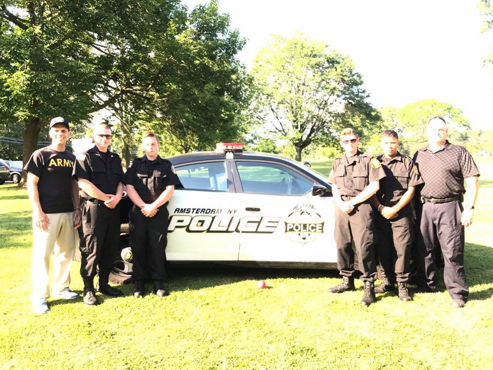Amsterdam community comes together at #NationalNightOut to support police-community partnerships that help keep neighborhood safe on August 2, 2017<br />&nbsp;