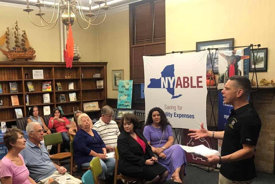 Assemblyman Angelo Santabarbara hosted a presentation on the New York Achieving a Better Life Experience (NY ABLE) Program at the Amsterdam Free Library. Learn more about NY ABLE and how New Yorkers w