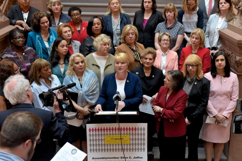 Assemblywoman Mary Beth Walsh (R,C,I,Ref-Ballston) joined the Legislative Women's Caucus at the state capitol on Wednesday, May 3 for a press event detailing this year's budget impacts on th