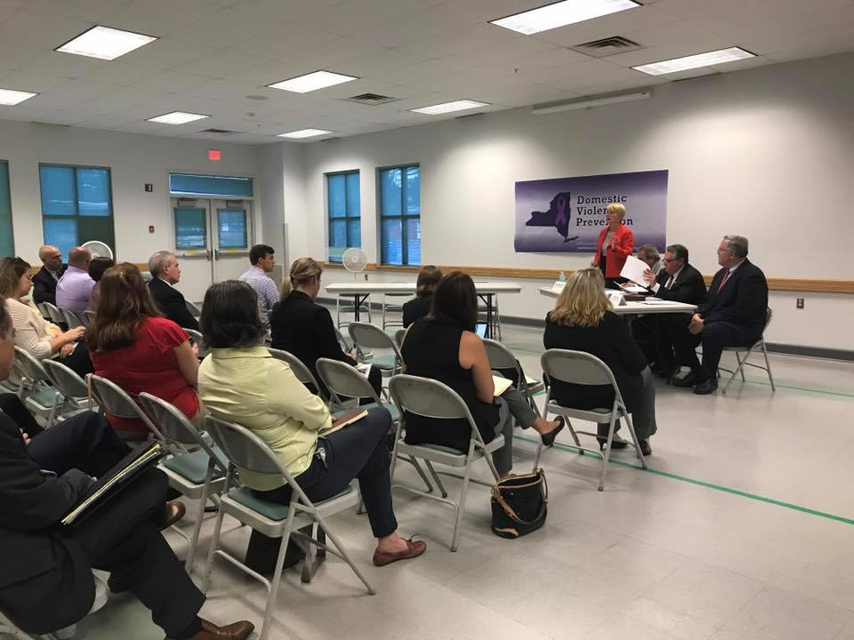 Assemblywoman Mary Beth Walsh and members of the Minority hosts a Domestic Violence Prevention Forum at the Glenville Senior Center on September 13, 2017. The representation from so many different gro