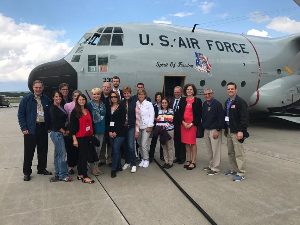Assemblywoman Walsh joins Legislative Colleagues and members of the Capital Region Chamber of Commerce to about the Unified Military Affairs Council – UMAC and fly in a C-130 cargo plane around the Ca