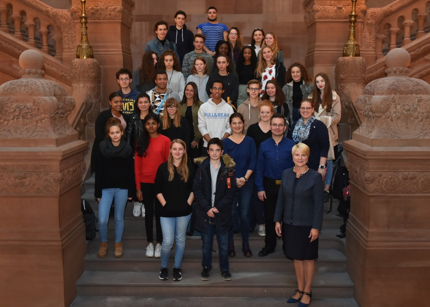 Assemblywoman Mary Beth Walsh (R,C,I,Ref-Ballston) had the opportunity to meet with a group of French exchange students from Shenendehowa High School during a tour of the state Capitol on Tuesday, Oct