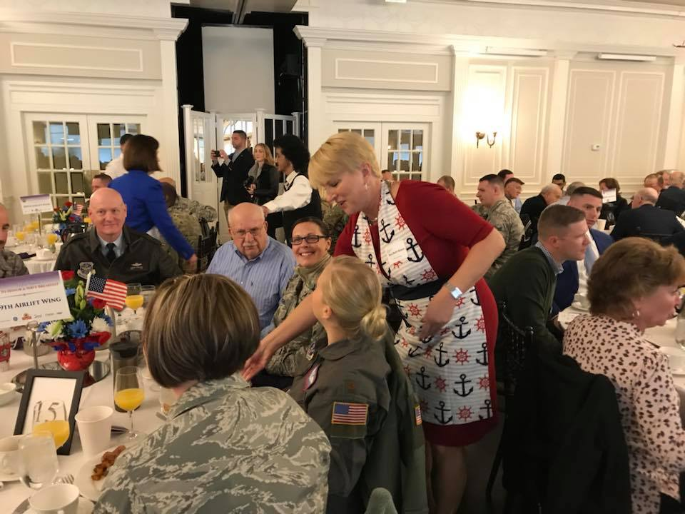 What a beautiful day to honor and serve our veterans at the Glen Sanders Mansion with UMAC and the Capital Region Chamber of Commerce. Hearing from WW2 Navy veteran Steve Dennis about his service was