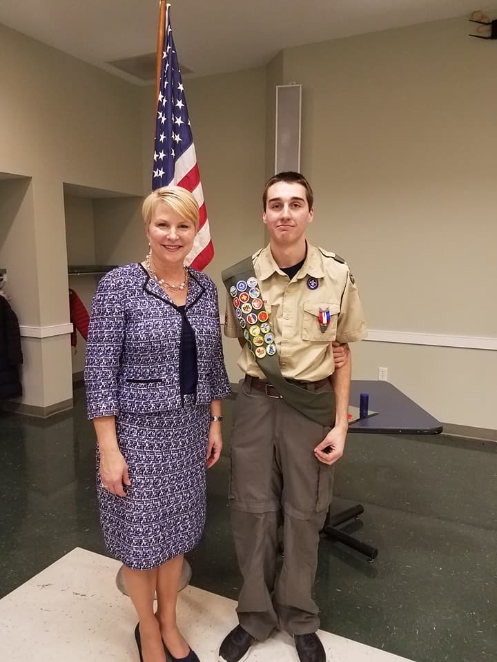 Congratulations to Jacob Smithgall on becoming an Eagle Scout! I was honored to be a part of his ceremony last night, although I could not have been as proud as his parents, four grandparents, and fam