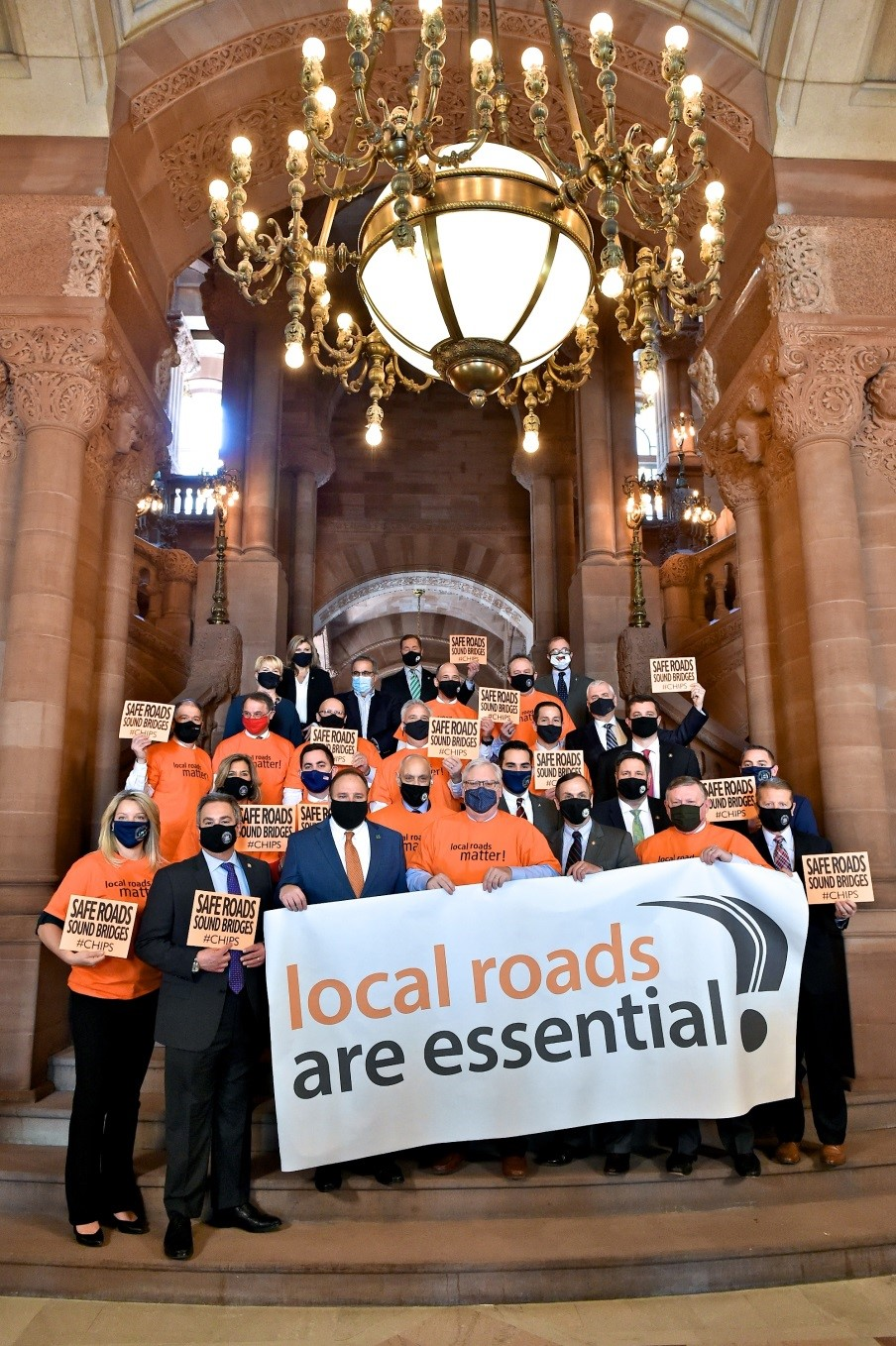 Assemblywoman Mary Beth Walsh (R,C,I-Ballston) pictured at CHIPS rally with members of the Assembly and Senate Minority Conferences on March 3, 2021 in Albany.