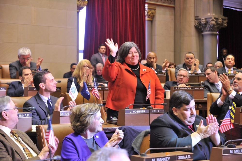Assemblywoman Carrie Woerner's first day of the 2015 Legislative Session