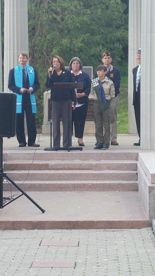Memorial Day 2015, Assemblywoman Woerner participated in Saratoga Springs' Memorial Day Commemoration.