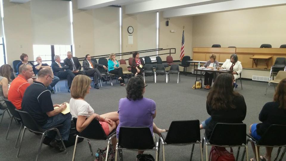 In May 2015, Assemblywoman Woerner hosted several listening sessions about public education with our region's new representative on the Board of Regents, Beverly Ouderkirk. She invited parents, teachers, administrators, and community members from Saratoga and Washington Counties to share their concerns with Regent Ouderkirk and explain to her the needs of students and schools in our district.