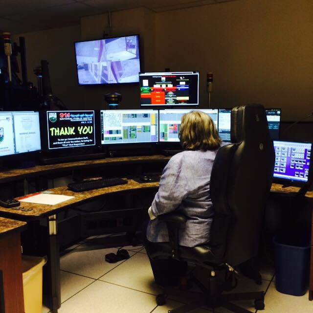 During National Dispatchers Week in May, Assemblywoman Woerner visited the Washington County Department of Public Safety's 911 dispatch center.
