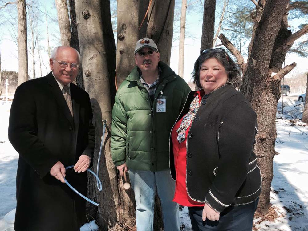 Assemblywoman Woerner tours Sugar Oak Farms in Malta, NY with Congressman Paul Tonko.