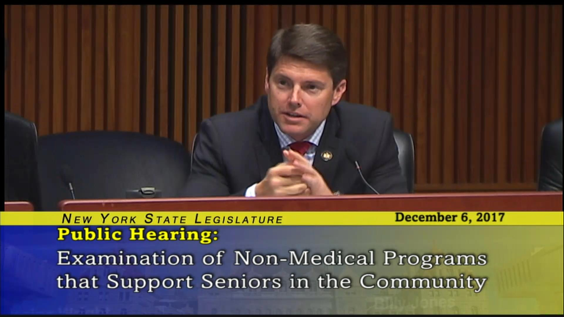 Assemblyman Jones Speaks on Non-Medical Programs