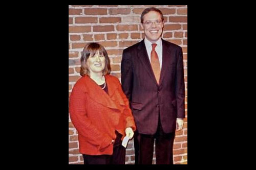 Assemblyman Will Barclay (R,C,I�Pulaski) is pictured with Sabine Ingerson, director of ARISE�s Oswego County offices.