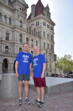 Local Assemblymen Will Barclay (R, C, I�Pulaski) and Bob Oaks (R,C�Macedon) participated in the annual National Running Day event at the New York State Capitol complex in Albany on the morning of June 3rd. The event is a national initiative to promote running as a healthy, easy and accessible form of exercise. Both Barclay and Oaks have been lifelong runners. There was also a resolution supported by both state legislators that proclaimed June 3, 2015 as Running Day in the State of New York.