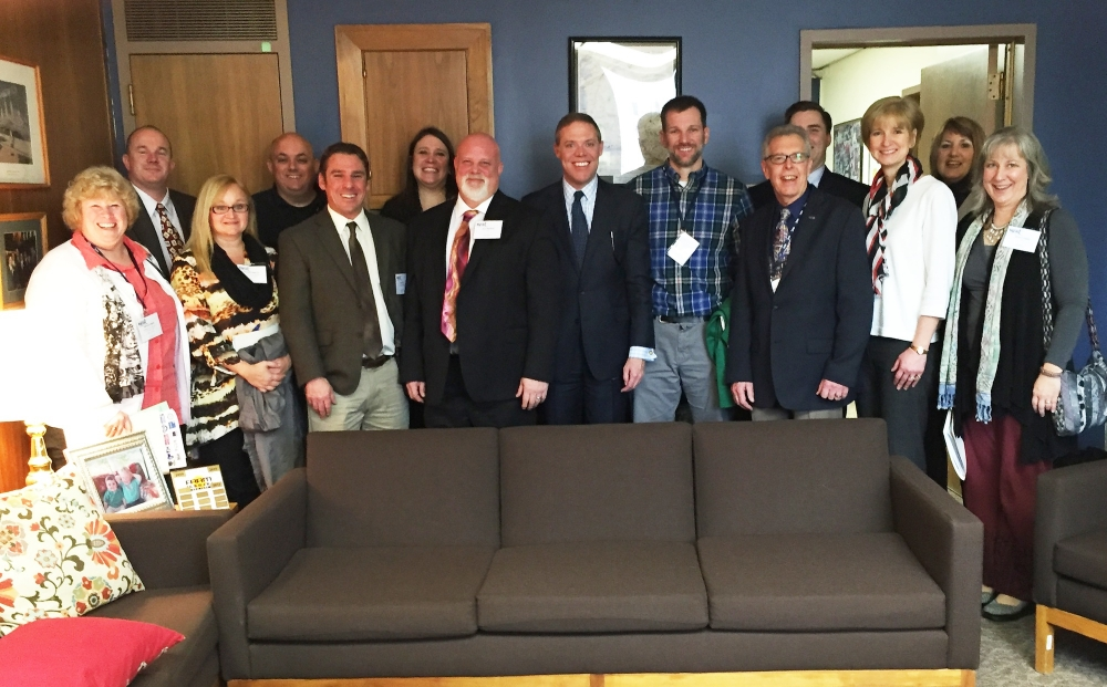 Assemblyman Will Barclay (R,C,I--Pulaski) recently met with teachers from throughout Oswego County in Albany to discuss how Albany�s policies are affecting local schools.