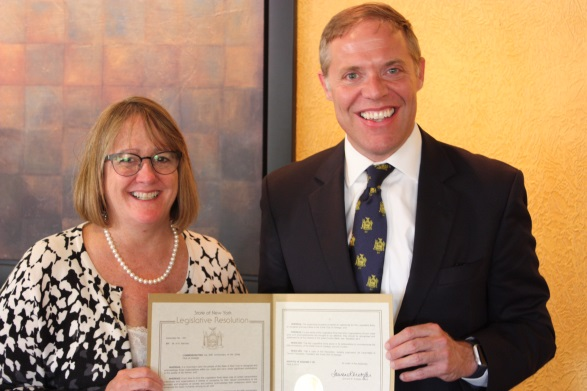 Assemblyman Will Barclay (R,C, I � Pulaski) recently honored Zonta Club of Oswego for celebrating its 60th anniversary.