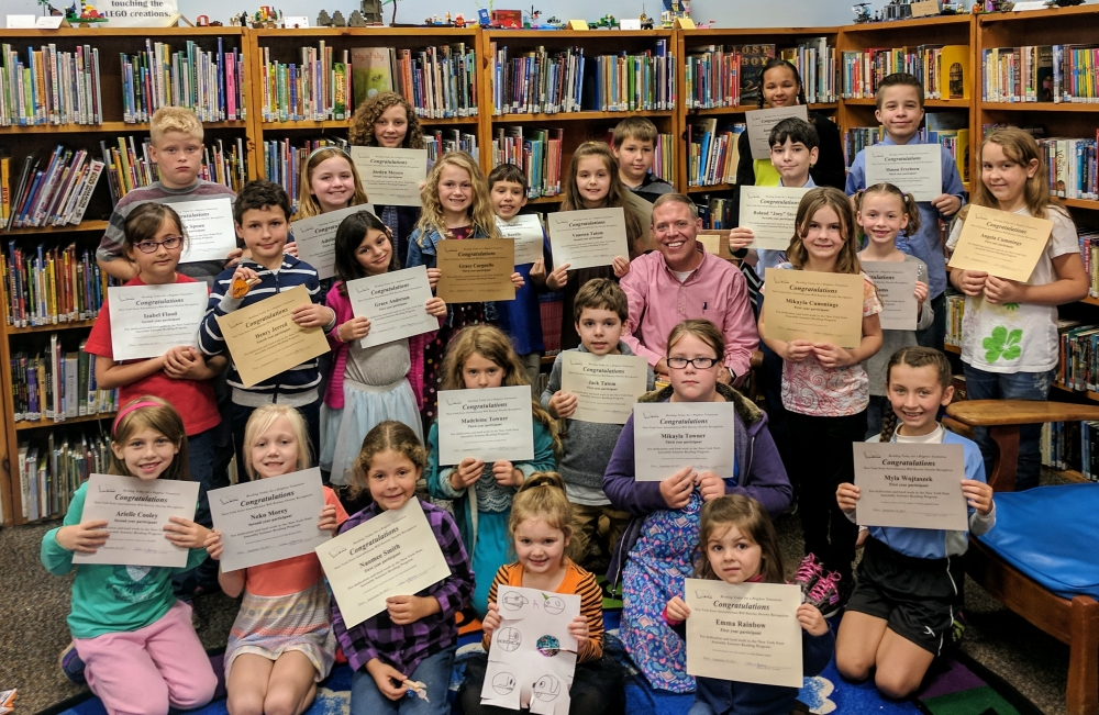 Assemblyman Will Barclay (R,C,I-Pulaski) recently held his Summer Reading Challenge reward party at the Fulton Public Library.