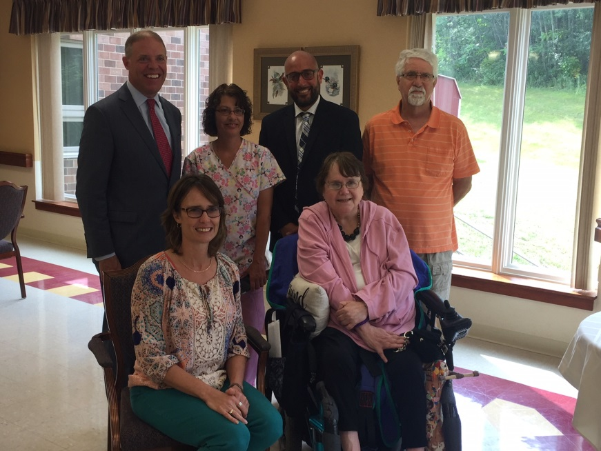 Assemblyman Will Barclay (R,C,I,Ref-Pulaski) recently attended a celebration honoring local winners in the Leading Age Art Exhibit at the Manor at Seneca Hill.