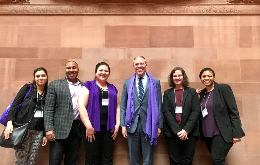Assemblyman Will Barclay (R,C,I,Ref—Pulaski) recently welcomed staff members from Vera House, Inc. to Albany.