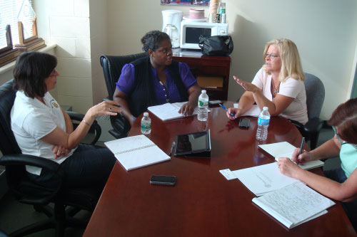September 10, 2011 � Assemblywoman Lupardo meets with Binghamton City Council Members Lea Webb and Teri Rennia to discuss the flood.