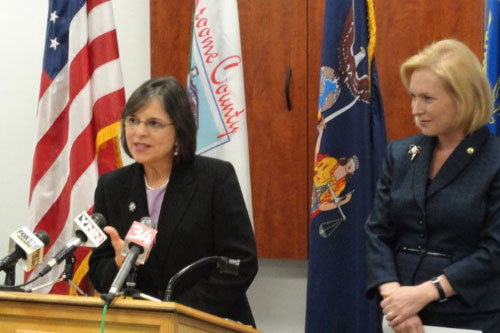 January 28, 2011 � Assemblywoman Lupardo discusses the importance of the innovation economy at a press conference in Binghamton with Senator Kirsten Gillibrand.