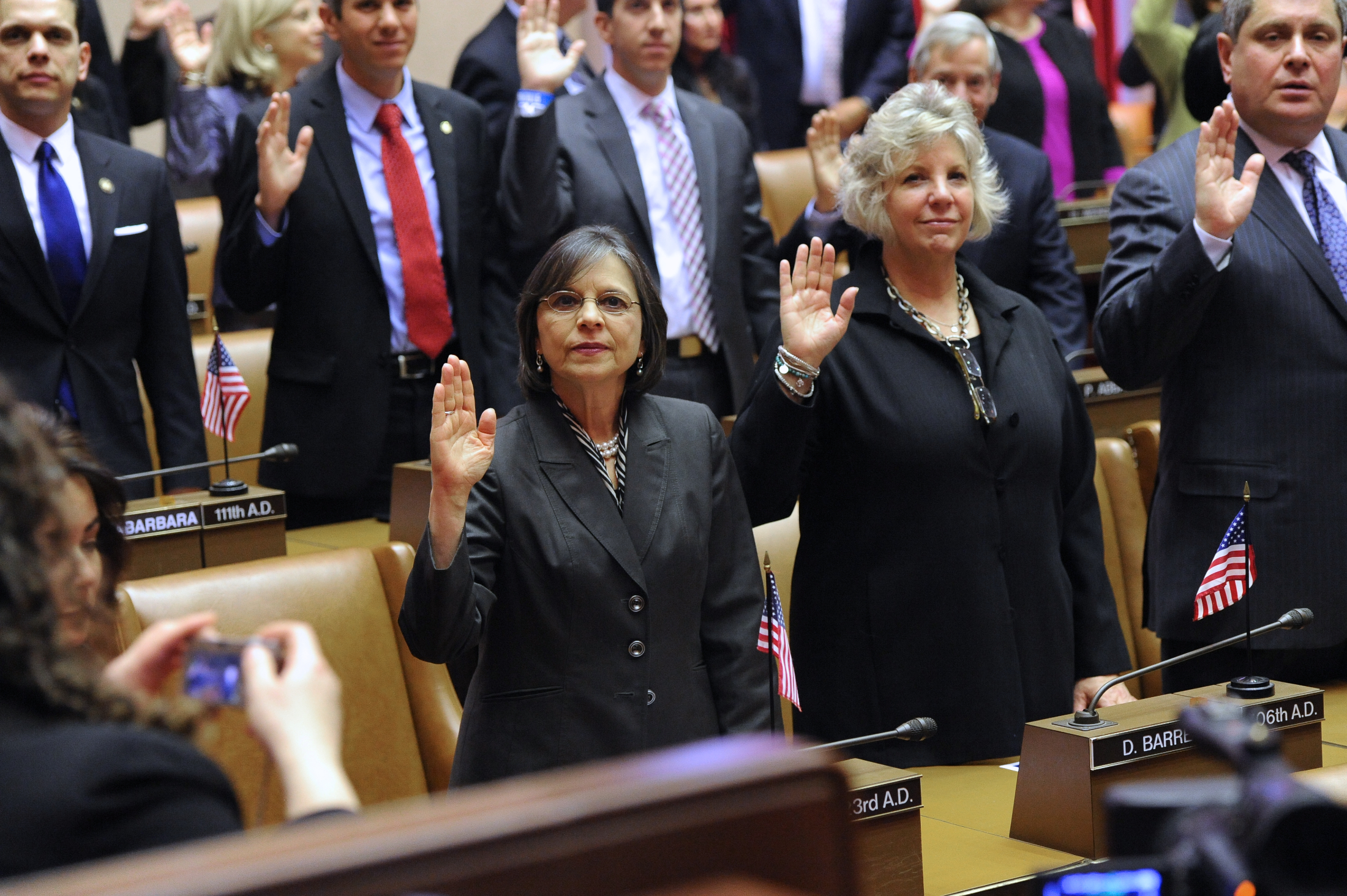 January 9, 2013 � Assemblywoman Donna Lupardo is sworn in for her fifth term in office.
