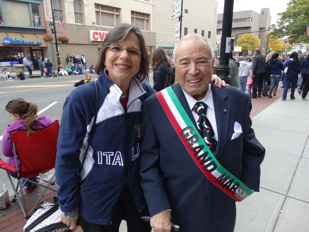 October 13, 2014 � Assemblywoman Donna Lupardo, President of the New York Conference of Italian-American State Legislators, enjoys the annual Columbus Day Parade and Tournament of Bands in Downtown Binghamton.