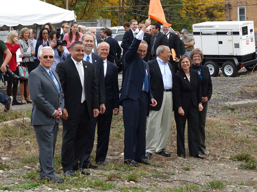 October 2, 2014 � US Senator Charles Schumer joins Assemblywoman Lupardo and other local elected officials for groundbreaking of the Southern Tier High-Technology Incubator in Binghamton.