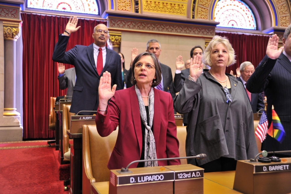January 7, 2015 � Assemblywoman Lupardo is sworn into office for her sixth term.
