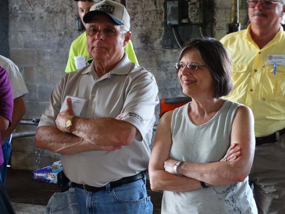 July 29, 2015 - Assemblywoman Lupardo and Assemblyman Cliff Crouch attend the annual Chenango County Farm Tour to learn more about local agriculture.