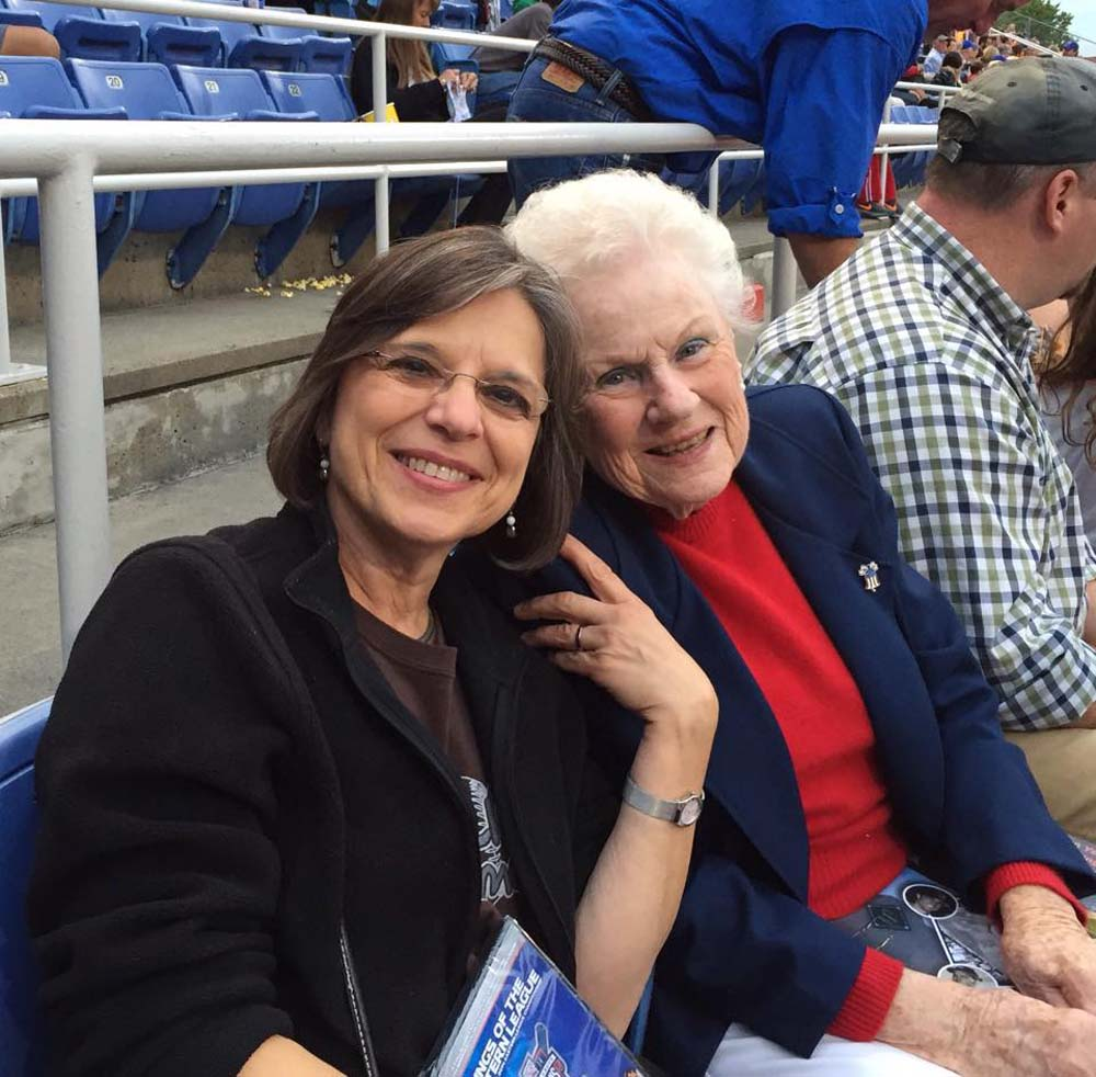 August 26, 2015 – Assemblywoman Lupardo attends the Binghamton Mets game with Sandy Scanlon, granddaughter of George F. Johnson, as the team honors GFJ's legacy. Johnson, the owner of Endicott-Johnson Shoe Corporation, brought minor league baseball back to the Triple Cities in the early 20th Century and often opened the gates to the stadium free of charge for community members.