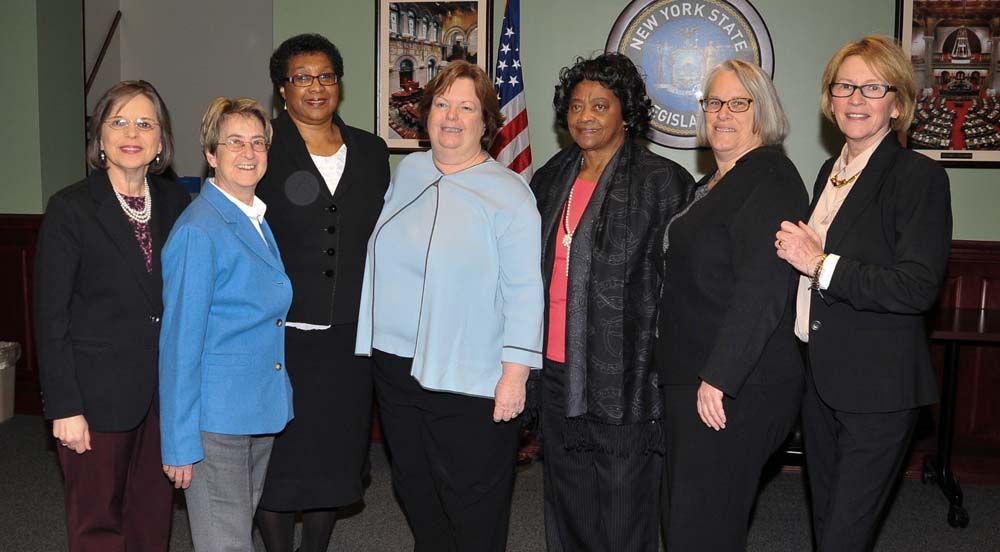 January 12, 2016 – Assemblywoman Lupardo, Chair of the Legislative Women's Caucus, with fellow members of the LWC.