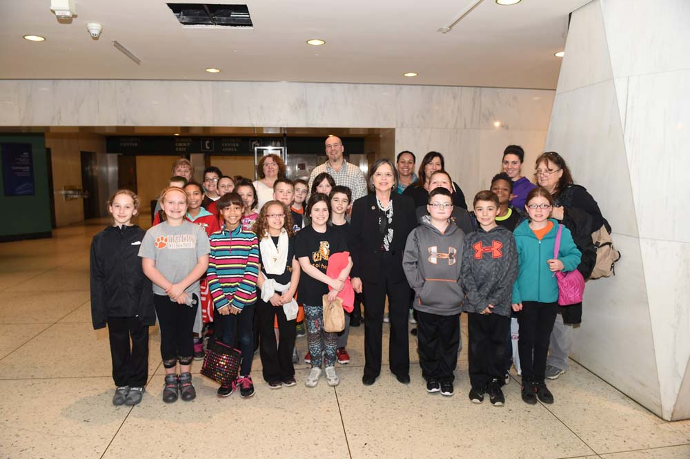 May 4, 2016 – Students from Charles F. Johnson Elementary in Endicott meet with Assemblywoman Lupardo in Albany.