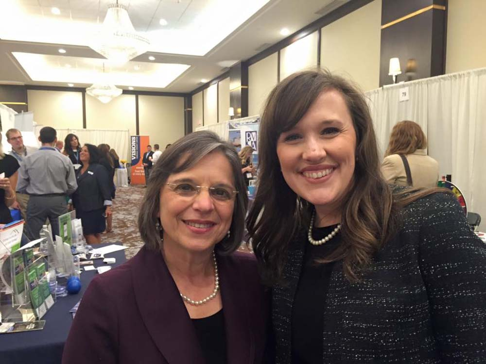 September 15, 2016 – Greater Binghamton Chamber of Commerce President & CEO Jennifer Conway and Assemblywoman Lupardo at the Chamber's annual Business Expo.<br /> <br />