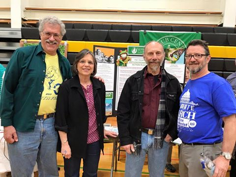 Assemblywoman Lupardo and members of the Susquehanna Group of the Sierra Club at the 2017 EarthFest.<br />