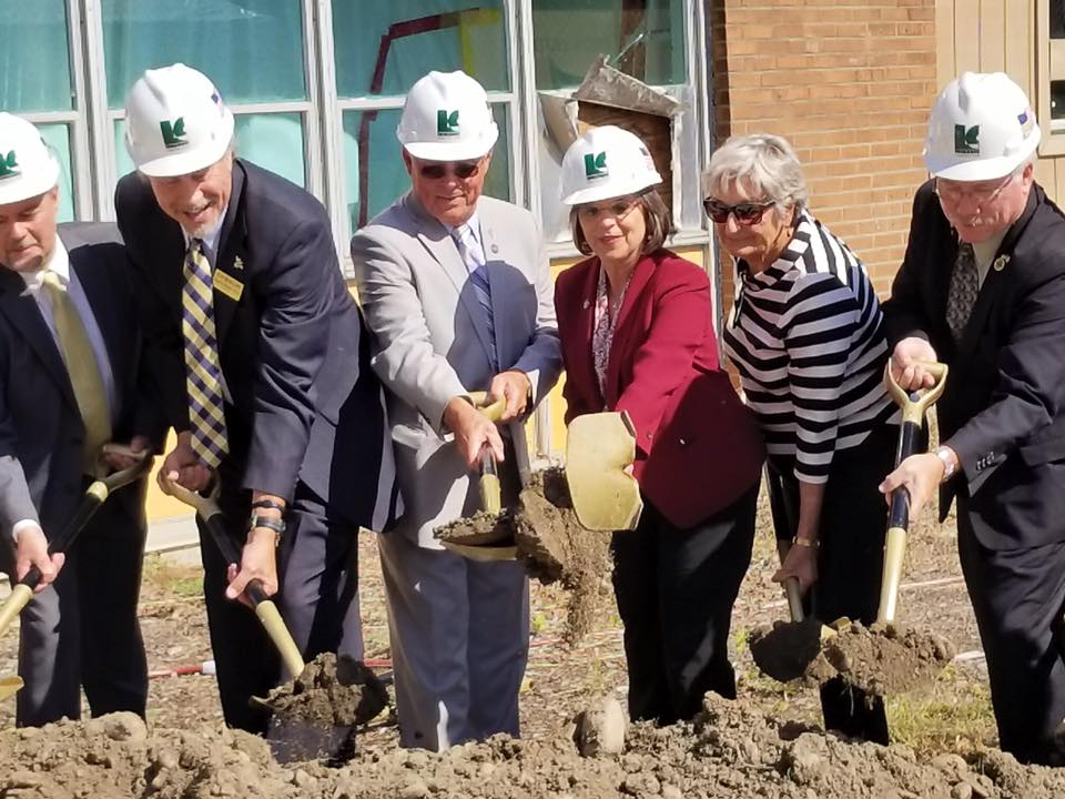September 21, 2017 – Assemblywoman Lupardo helps break ground at the new Paul & Mary Calice and Mildred Barton Advanced Manufacturing Center at SUNY Broome.