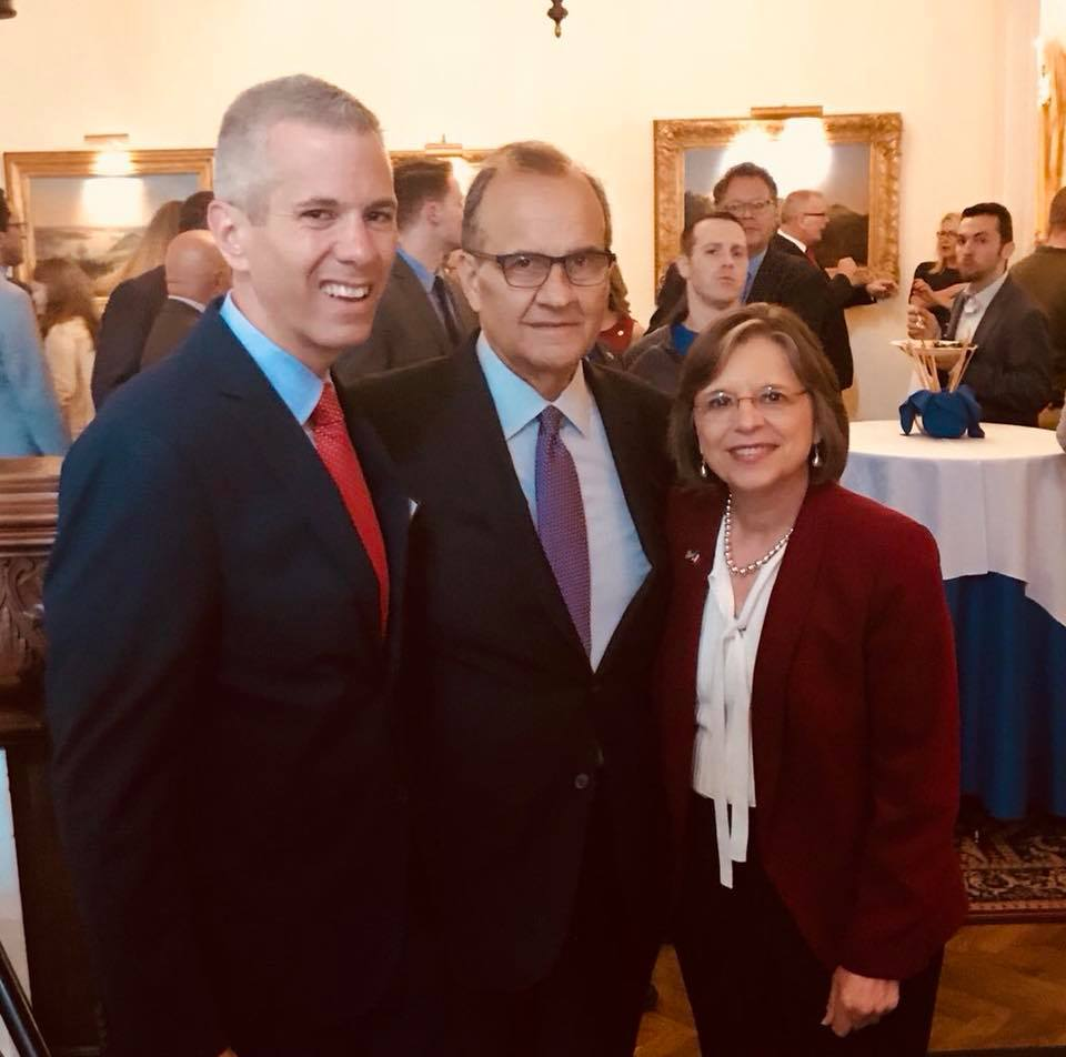 June 4, 2018 – Assemblywoman Lupardo and Assemblyman Anthony Brindisi with Baseball Hall of Famer Joe Torre. Torre was honored in Albany by the New York Conference of Italian-American State Legislator