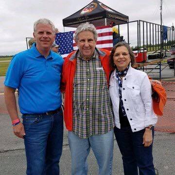 June 23, 2018 – County Executive Jason Garnar, Jeff Gural of title sponsor Tioga Downs, and Assemblywoman Lupardo at the Greater Binghamton Air Show. This year was the return of the air show after a f
