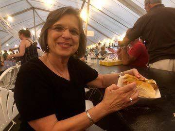 August 11, 2018 – Assemblywoman Lupardo enjoys the annual St. Mary's Bazaar in Binghamton.