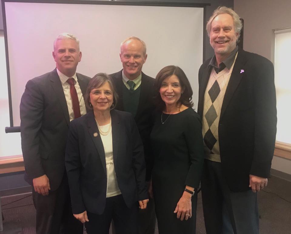 January 10, 2020 – Assemblywoman Lupardo with County Executive Jason Garnar, Binghamton University President Harvey Stenger, Lieutenant Governor Kathy Hochul, and SUNY Broome President Kevin Drum