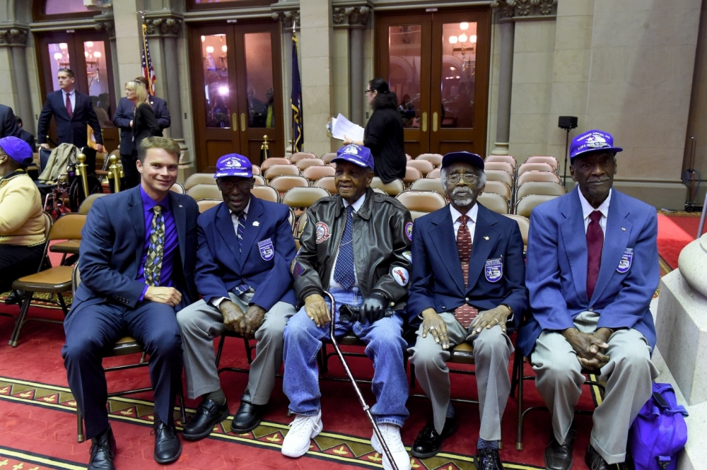 Assemblyman Christopher S. Friend (R,C,I-Big Flats) had the opportunity to honor the Tuskegee Airmen on their 75th Anniversary