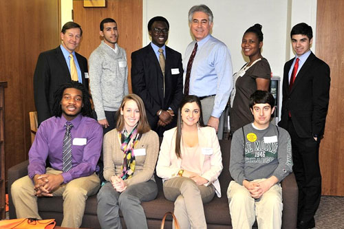 Earlier this week Assemblyman Stirpe met with outstanding students from LeMoyne College.