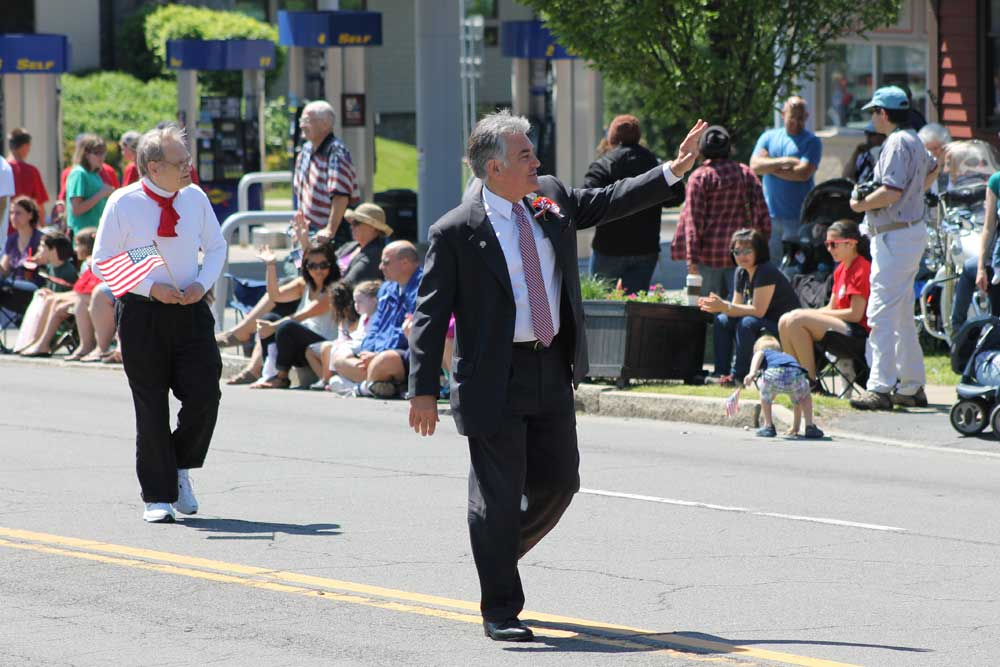 Assemblyman Stirpe marches in a local Memorial Day parade.
