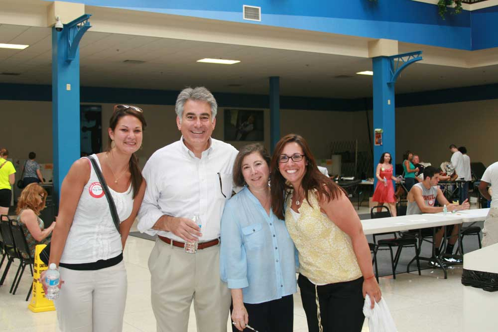 Tracy Driscoll, Assemblyman Stirpe, Chele Stirpe, and Corey Driscoll at Assemblyman Stirpe's 7th Annual Lifesavers Blood Drive and Health Fair.