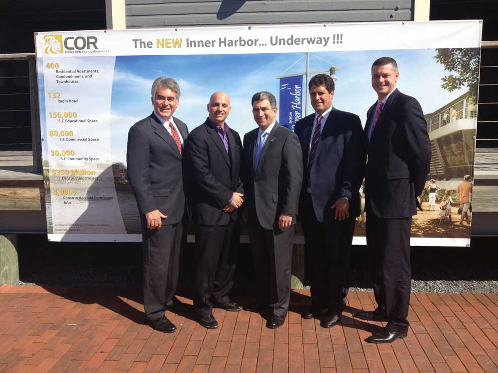 Assemblyman Stirpe attends the announcement of a new hotel coming to the Inner Harbor.