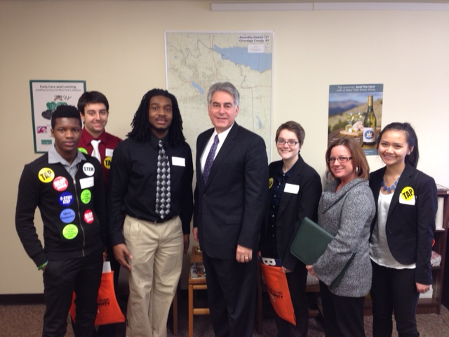 Assemblyman Stirpe is joined by students from LeMoyne College in Albany to discuss issues important to them.
