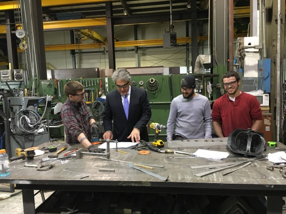 Assemblyman Al Stirpe toured Filtertech in Manlius, a global producer of liquid filtration equipment used in many industrial applications.