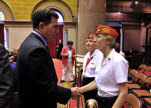The Assembly welcomed and honored the more than 65,000 New York State women veterans during a ceremony in the chamber.