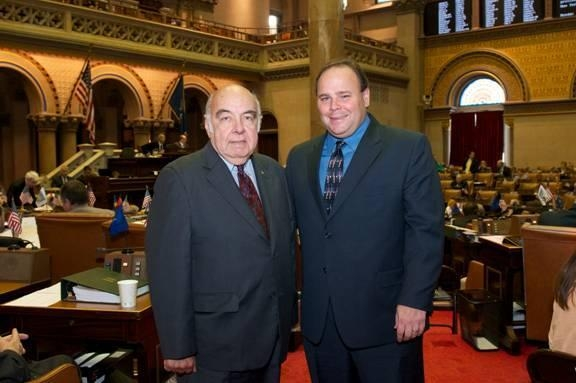Former Assemblyman Jim Bacalles (left) with Assemblyman Phil Palmesano (R,C,I-Corning).