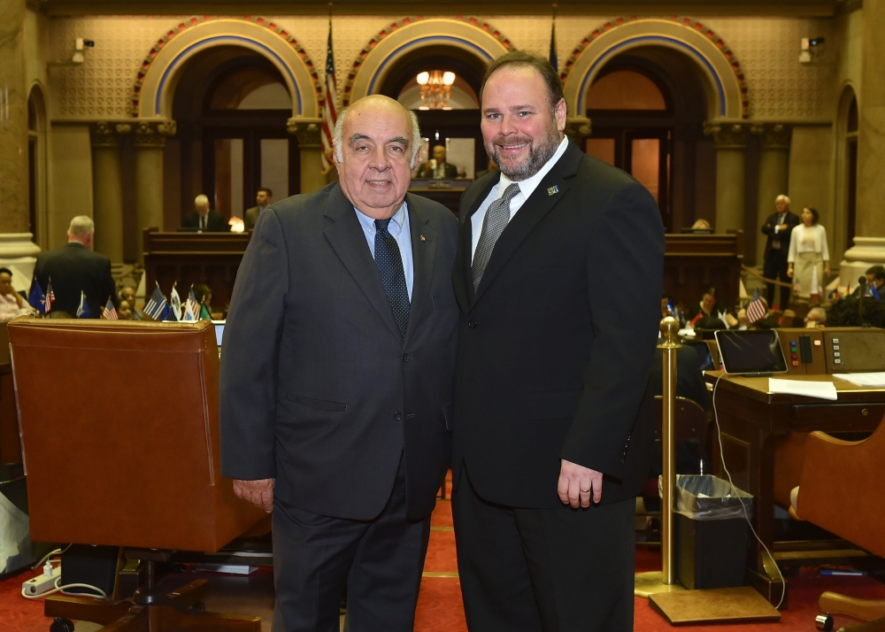 Former Assemblyman Jim Bacalles with Assemblyman Phil Palmesano (R,C,I-Corning).